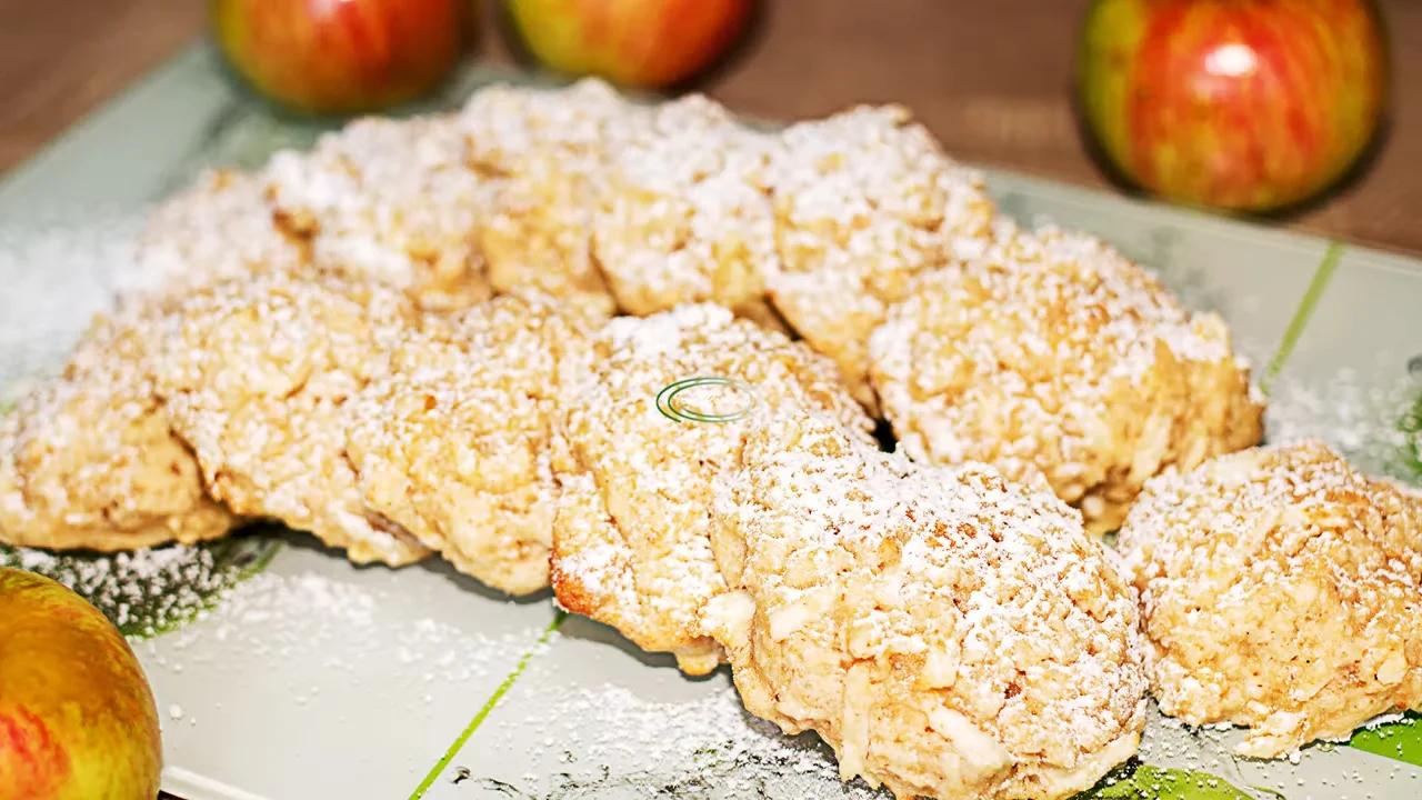 Яблочно-овсяное печенье к чаю