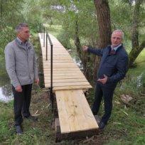 В д. Пупово новый мостик